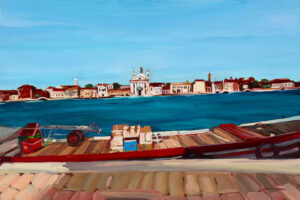 Guidecca Venedig,2020, Öl auf Leinwand, 40 x 60 cm