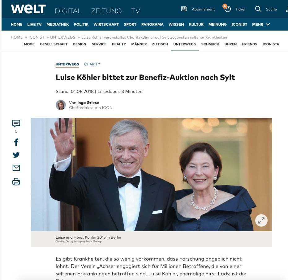 Auktion Seltener Gelegenheiten zugunsten der Achse - 5. August 2018, Sylt. 2