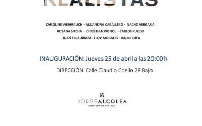 """Ausstellung """"REALISTAS"""" La Galería Jorge Alcolea, Madrid 25.04 – 29.05"""