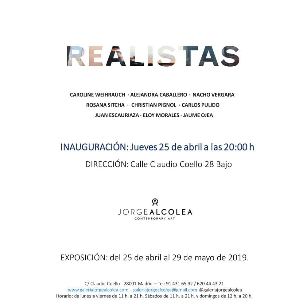 """AUSSTELLUNG """"REALISTAS"""" LA GALERÍA JORGE ALCOLEA, MADRID 25.04 - 29.05"""