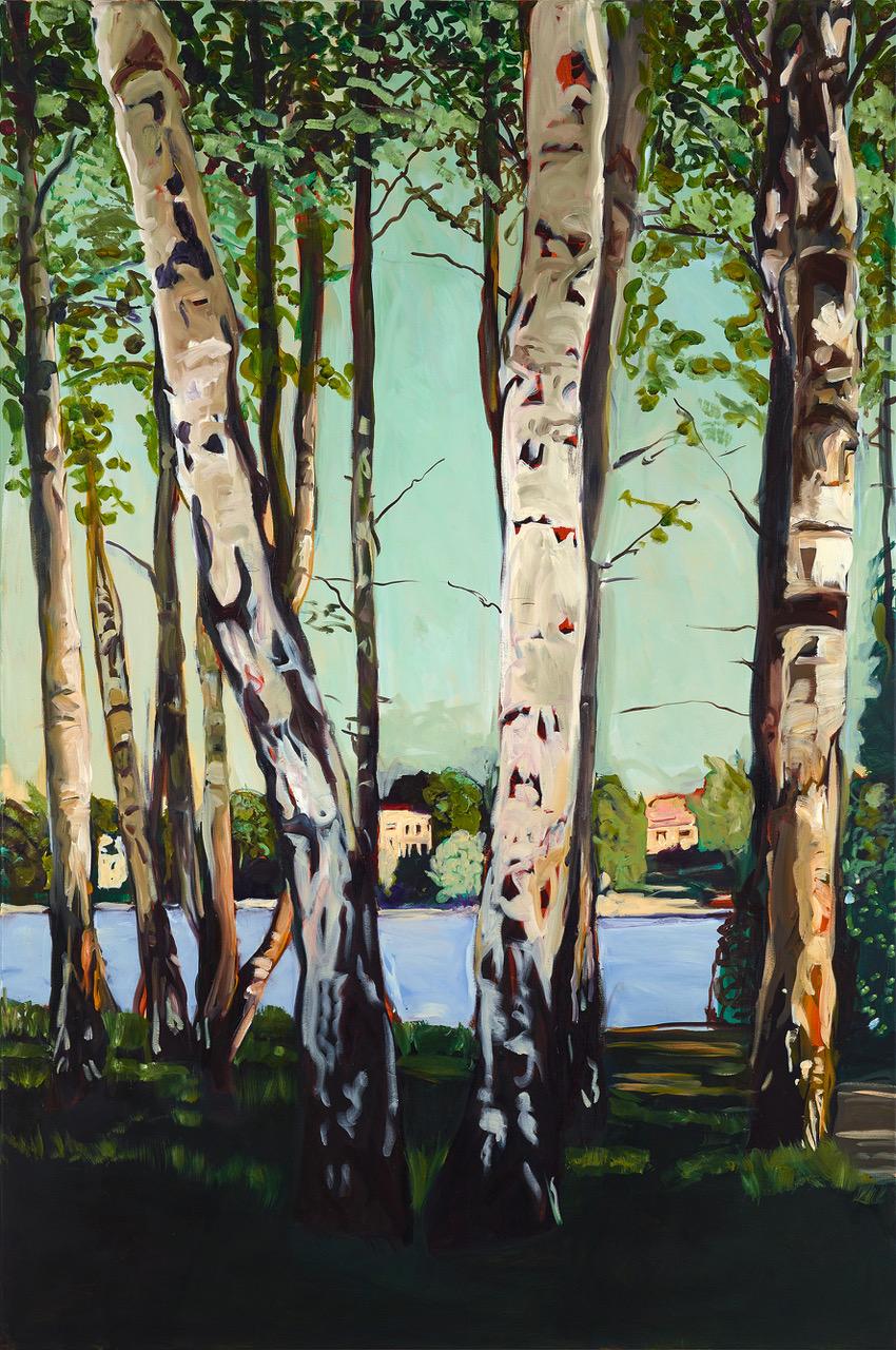 Die Liebermannschen Birken, 2020, Öl auf Leinwand 180 × 120 cm