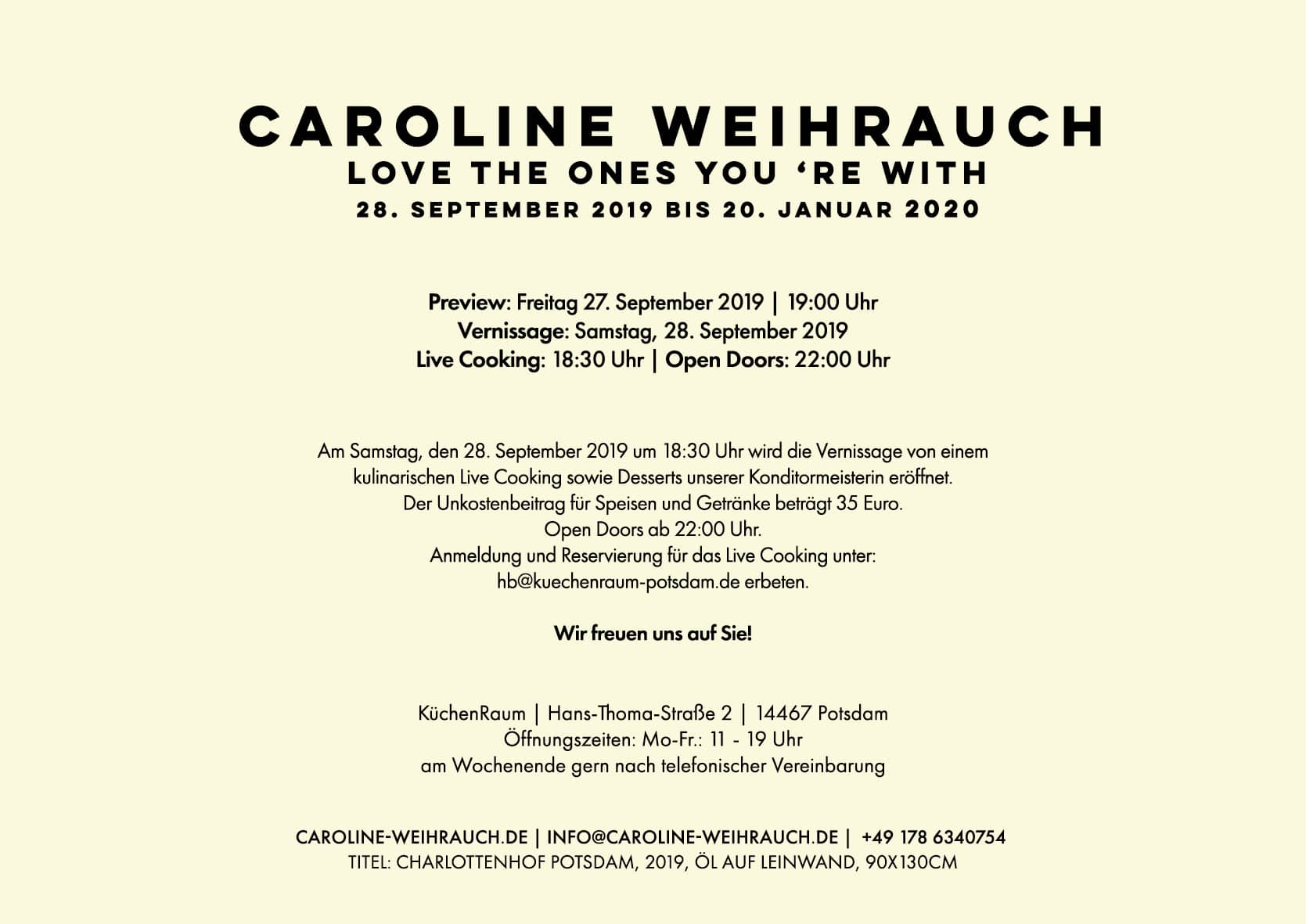 Ausstellung: LOVE THE ONES YOU 'RE WITH in Potsdam 2