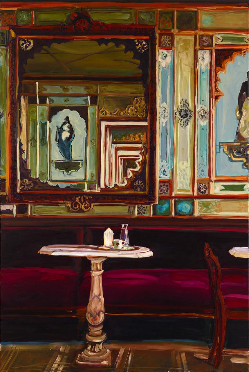 Mein liebes Venedig Caffe Florian, 2020 Öl auf Leinwand, 150 x 100