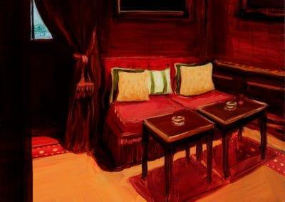 Serie Brenners Parkhotel- Ecke mit gelben Kissen