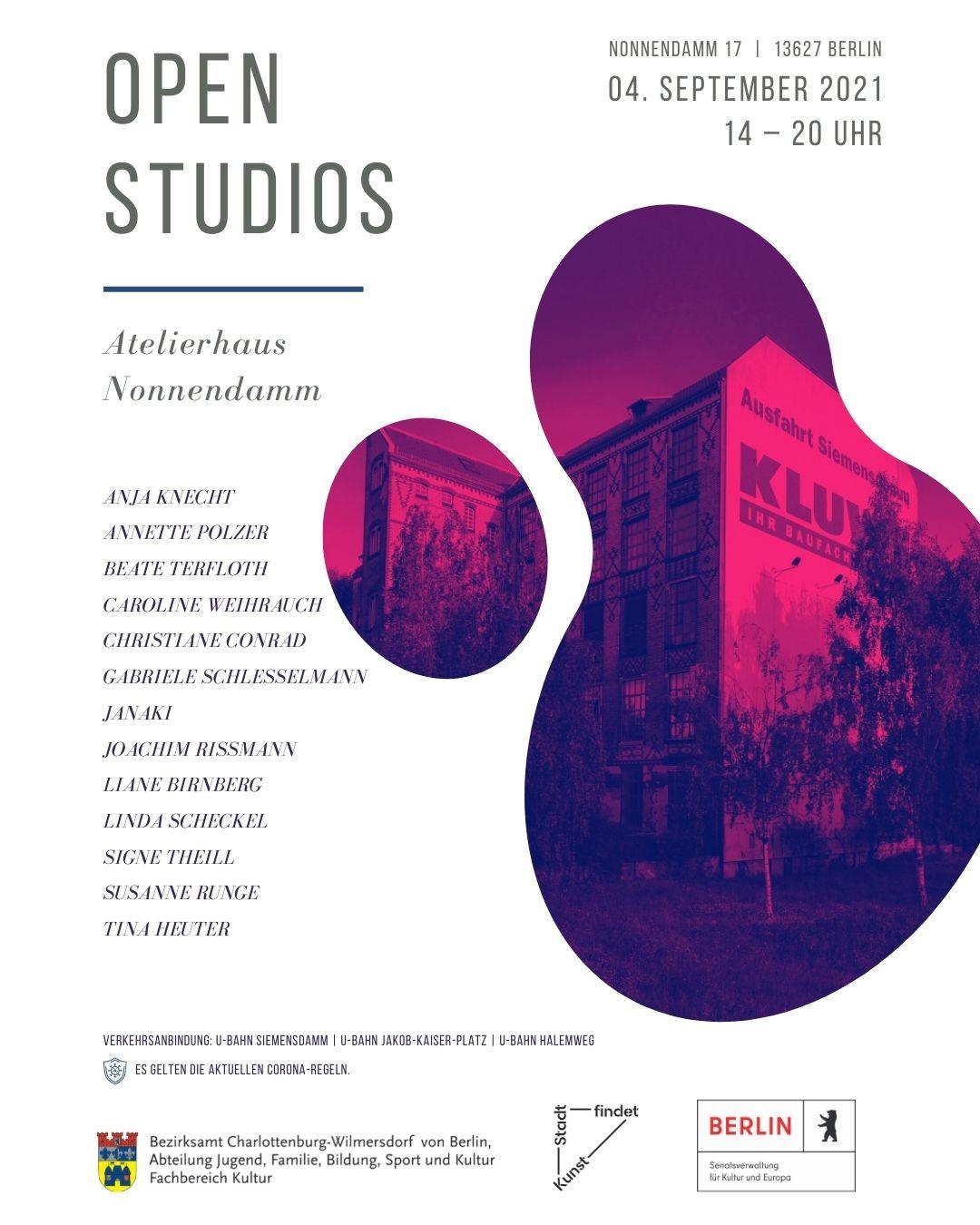 open studios – Atelierhaus Nonnendamm