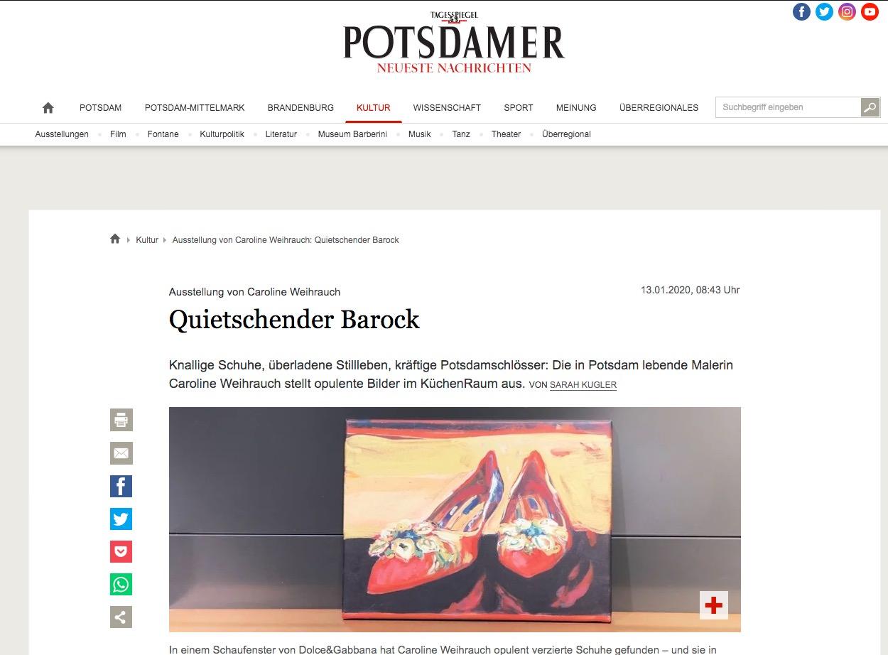 Potsdamer Neue Nachrichten: Quietschender Barock